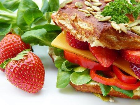 Sandwich, Salad, Vegetarian, Cheese